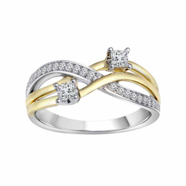 jcpenney.com | Womens 1/3 CT. T.W. Princess White Diamond 10K Gold Engagement Ring