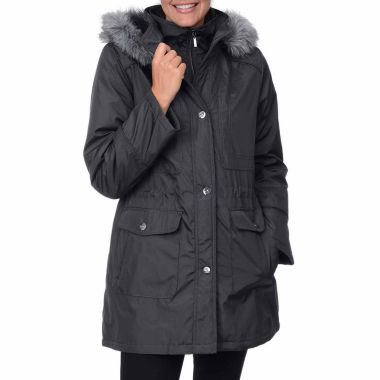 jcpenney.com | Fleet Street Bonded Stadium Anorak with Faux-Fur Trim Hood