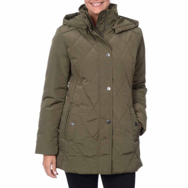 jcpenney.com | Fleet Street Faux-Silk Quilted Coat