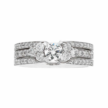jcpenney.com | Womens 1 CT. T.W. White Diamond 14K Gold Bridal Set