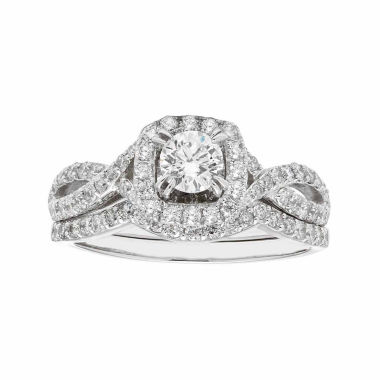 jcpenney.com | Certified Diamonds Womens 1 CT. T.W. White Diamond 14K Gold Bridal Set