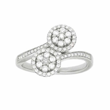 jcpenney.com | Diamond Blossom Womens 1/2 CT. T.W. White Diamond Cocktail Ring