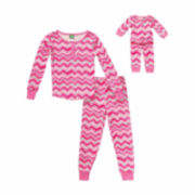 Dollie & Me Long-Sleeve 2-pc. Pajama Set-Girls 4-14