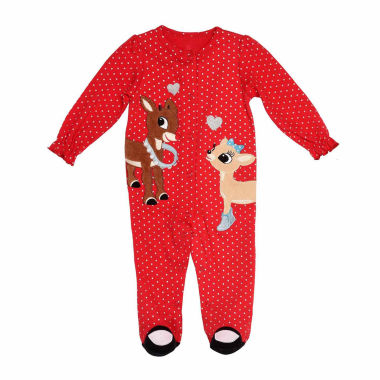 jcpenney.com | Rudolph The Red Nose Reindeer 1-pc Sleep and Play Baby Girl 3m-9m
