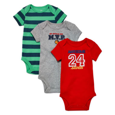 jcpenney.com | Okie Dokie 3pk Red Bodysuit