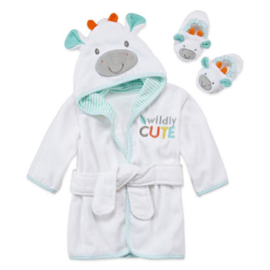 jcpenney.com | Okie Dokie Neutral Hooded Robe And Slippers White Giraffe