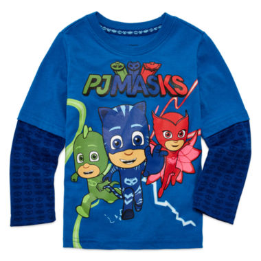 jcpenney.com | PJ Masks Long-Sleeve T-Shirt - Toddler Boys 2T-5T