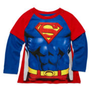 Superman Cape Tee - Toddler Boys 2T-5T