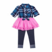 Little Lass® Flannel Tutu Set - Toddler Girls 2t-4t