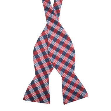 jcpenney.com | Stafford Pensacola Gingham To-Tie Bow Tie