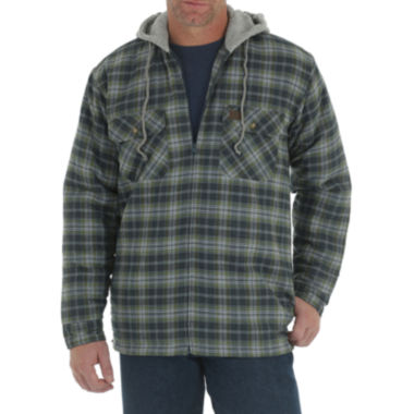 jcpenney.com | Wrangler/Riggs Workwear® Hooded Flannel Jacket