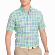 IZOD® Short-Sleeve Chambray Woven Shirt