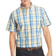 IZOD® Short-Sleeve Seaport Poplin Sport Shirt