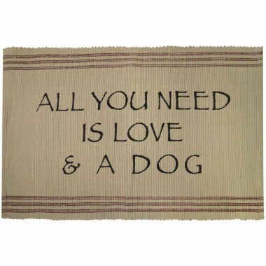 jcpenney.com | P. B. Paws by Park B. Smith® Need Love And Dog Cotton Pet Mat