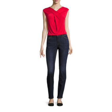 jcpenney.com | Liz Claiborne® Criss-Cross Top or Curvy-Fit Skinny Jeans