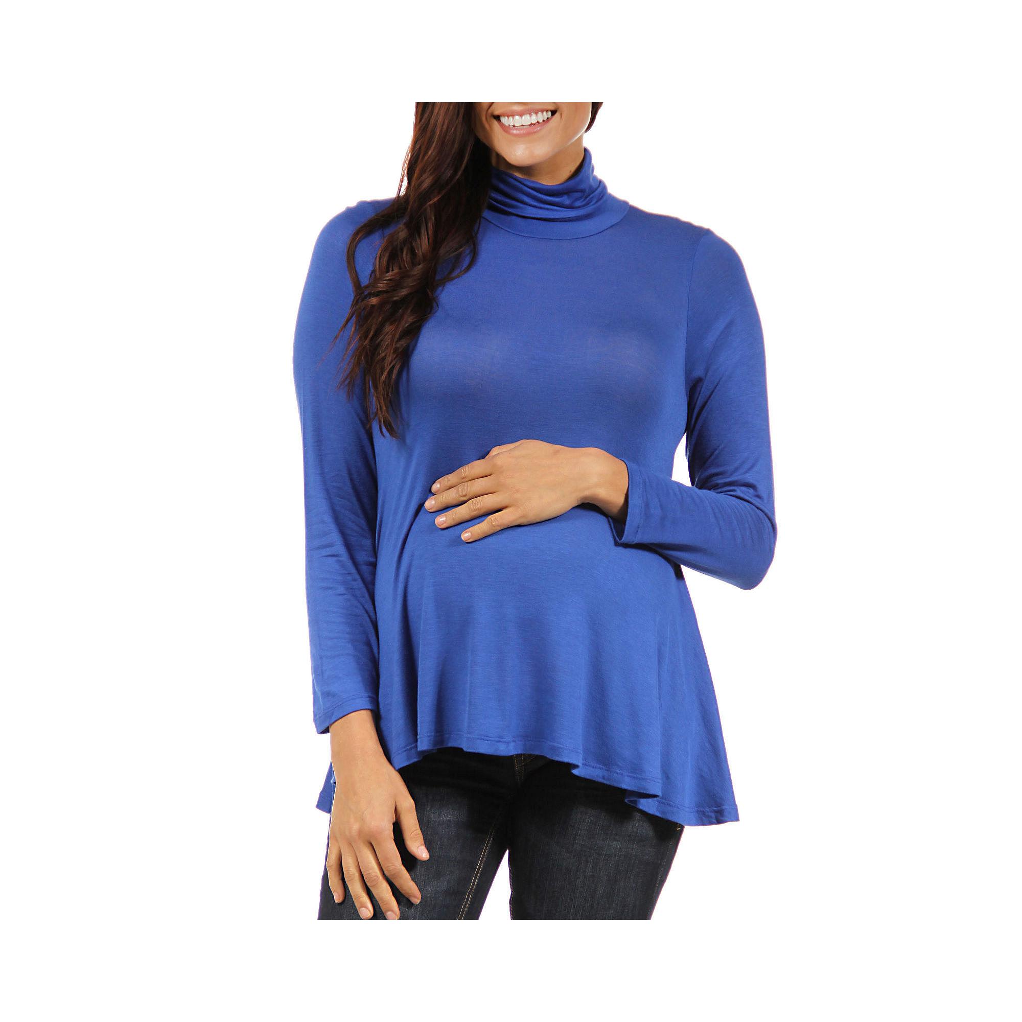 24/7 Comfort Apparel Turtleneck Pullover Sweater-Maternity plus size,  plus size fashion plus size appare