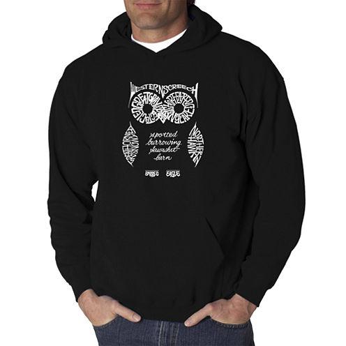 Los Angeles Pop Art Owl Logo Hoodie
