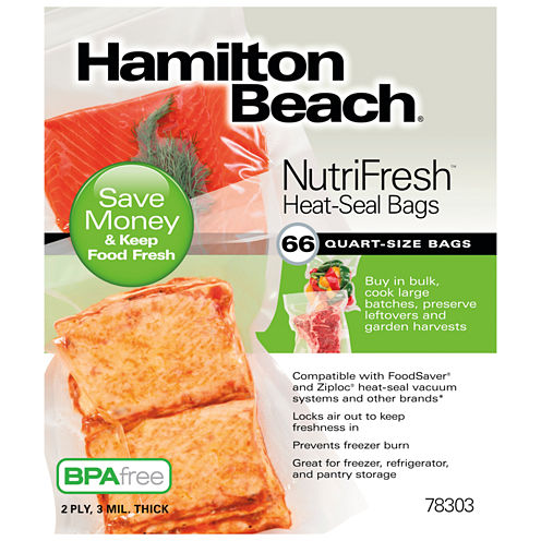 Hamilton Beach Nutri Fresh Vacuum Sealer Quart Bags