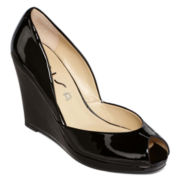 Unisa® Madison Peep-Toe Wedge Pumps