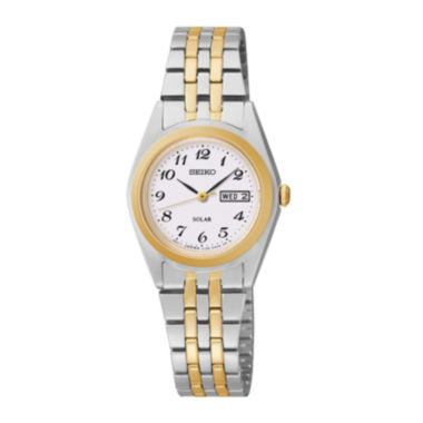 jcpenney.com | Seiko® Womens Two-Tone Solar Watch SUT116