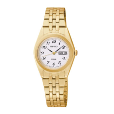 jcpenney.com | Seiko® Womens Gold-Tone Solar Watch SUT118