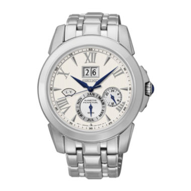jcpenney.com | Seiko® Le Grand Sport Mens Silver-Tone Chronograph Watch SNP065