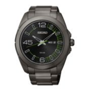 Seiko Millennial Mens Black Ion-Plated Bracelet Watch
