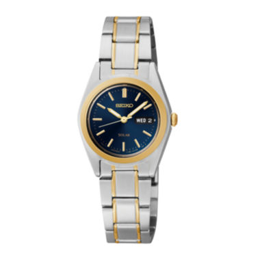 jcpenney.com | Seiko® Womens Two-Tone Blue Solar Watch SUT110