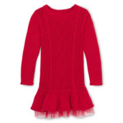 Arizona Cable Sweater Dress - Girls 12m-6y