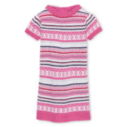 Arizona Patterned Sweater Dress - Girls 12m-6y
