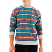Ocean Current Aztec-Print Long-Sleeve Fleece Pullover