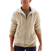 Hybrid Sherpa-Lined Fleece Jacket