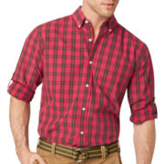 G.H. Bass® Long-Sleeve Plaid Poplin Woven Shirt