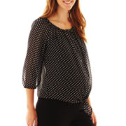 Maternity Dot Chiffon Blouse
