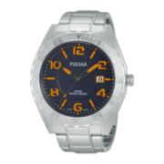 Pulsar® Mens Stainless Steel Watch PS9313