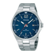 Pulsar® Easy Style Mens Stainless Steel Watch