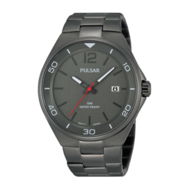 jcpenney.com | Pulsar® Easy Style Mens Gray Stainless Steel Watch PS9327