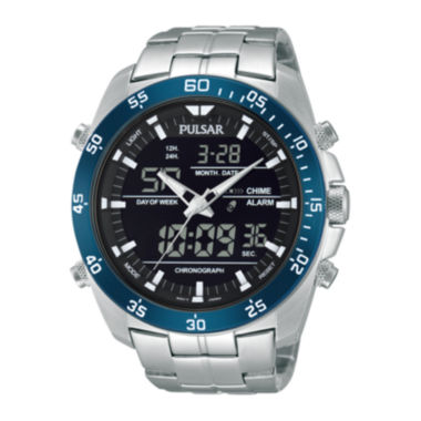 jcpenney.com | Pulsar® Mens Analog/Digital Stainless Steel Chronograph Watch PW6013