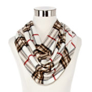 V. Fraas Plaid Loop Scarf
