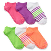 Xersion™ 6-pk. Multicolor No-Show Socks