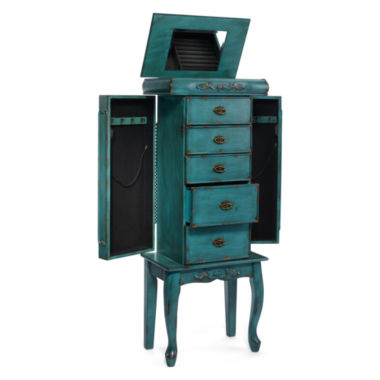 jcpenney.com | Kathy Ireland® Distressed Blue Jewelry Armoire