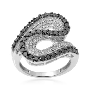 jcpenney.com | LIMITED QUANTITIES  1½ CT. T.W. White and Color-Enhanced Black Diamond Swirl Ring