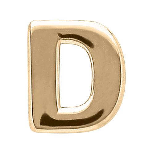 "Teeny Tiny® 10K Yellow Gold Initial ""D"" Single Stud Earring"