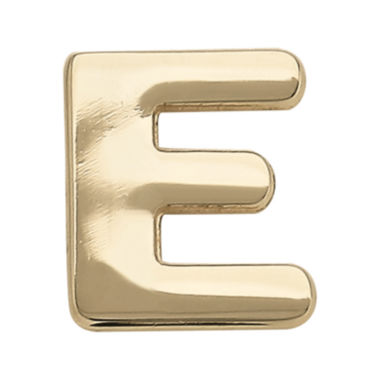 "jcpenney.com | Teeny Tiny® 10K Yellow Gold Initial ""E"" Single Stud Earring"