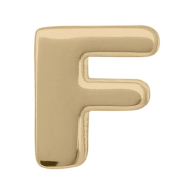 "jcpenney.com | Teeny Tiny® 10K Yellow Gold Initial ""F"" Single Stud Earring"
