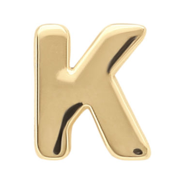 "jcpenney.com | Teeny Tiny® 10K Yellow Gold Initial ""K"" Single Stud Earring"