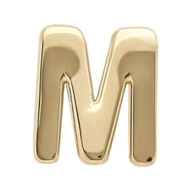 "jcpenney.com | Teeny Tiny® 10K Yellow Gold Initial ""M"" Single Stud Earring"
