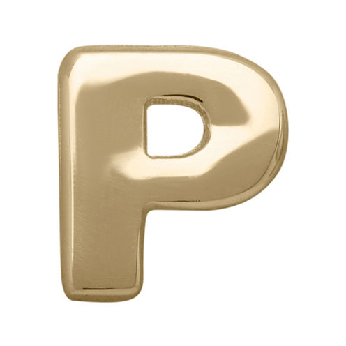 "Teeny Tiny® 10K Yellow Gold Initial ""P"" Single Stud Earring"