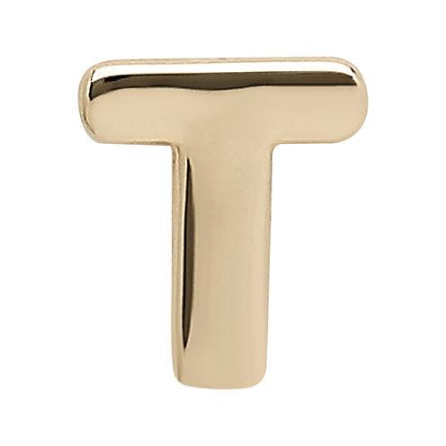 "Teeny Tiny® 10K Yellow Gold Initial ""T"" Single Stud Earring"