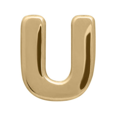 "jcpenney.com | Teeny Tiny® 10K Yellow Gold Initial ""U"" Single Stud Earring"